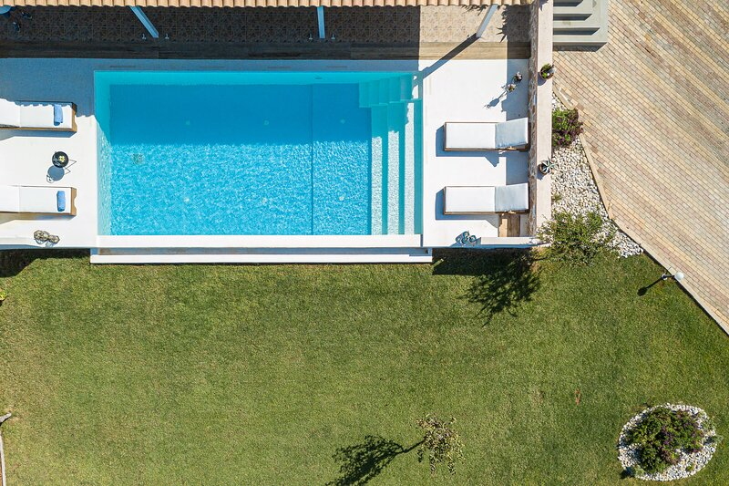 Birds eye view from the iconic private pool.