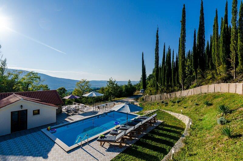 Villa Mlin - Three-Bedroom Villa with Terrace and Swimming Pool, holiday rental in Zastolje