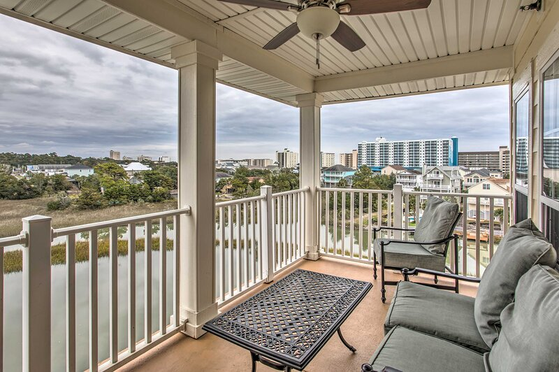 NEW! Myrtle Beach Condo w/ View, 5 Blocks to Beach, holiday rental in Arcadian Shores