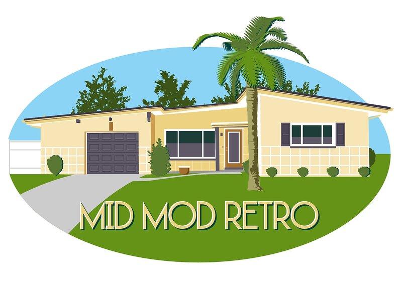 Mid Mod Retro home Bellaire beach bike trail near St Pete Clearwater Tampa area. – semesterbostad i Largo