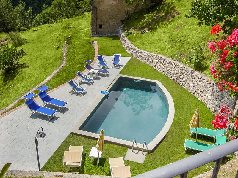 New! Stone farmhouse & cottage, private pool, outstanding views, walk restaurant, holiday rental in Vergemoli