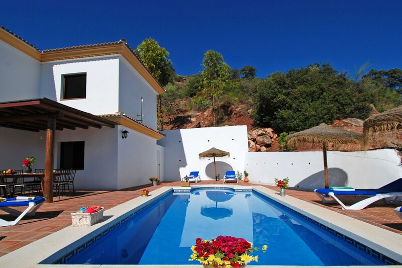 Villa Torcal 1, HEATED POOL, WIFI, BBQ,A/C, Magnific View, holiday rental in El Borge