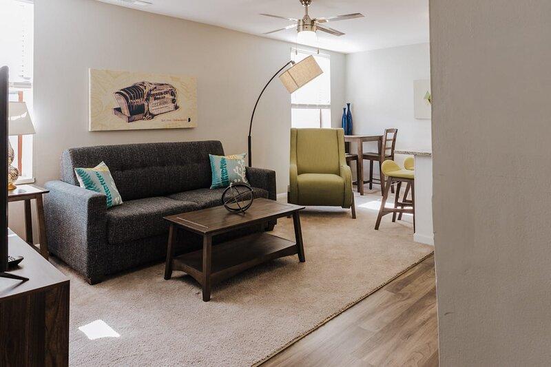 Bright living rooms w/ sleeper sofa