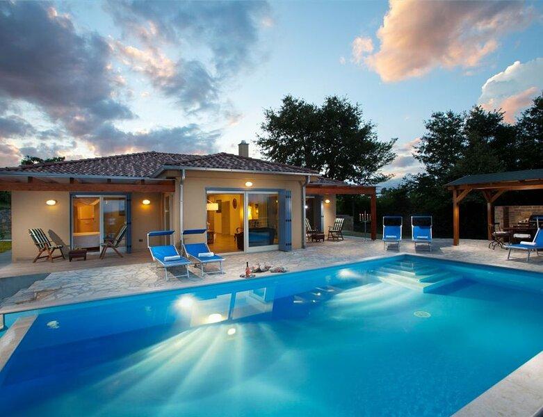 Beautiful villa Principe with an outdoor pool, holiday rental in Vizintini Vrhi