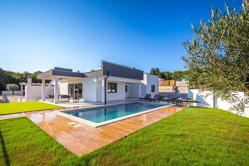 Stylish Villa La Bella with a pool and a jacuzzi, alquiler de vacaciones en Viskovici