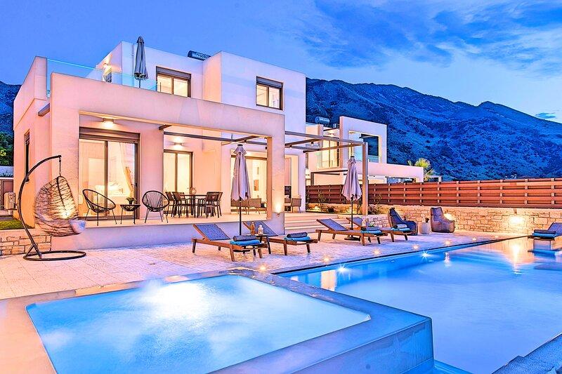 Minoas Villa | Private Heated Pool, aluguéis de temporada em Georgioupolis