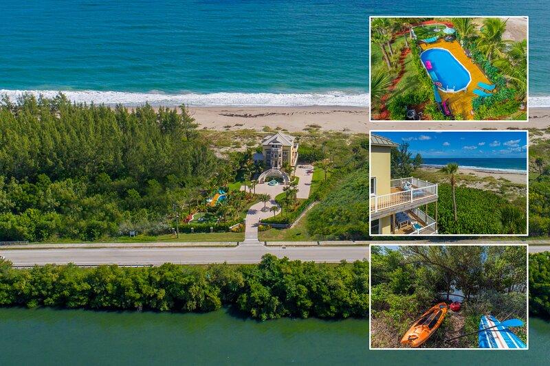 Bella Vista: 7BR/5BA, Ocean-to-River.Directly *ON* Beach. < $100/night  /bedroom, location de vacances à Fort Pierce