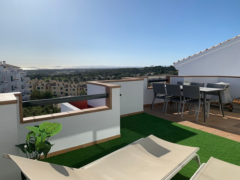Two private top floor penthouses with stunning views, close to restaurants, holiday rental in Orihuela Costa