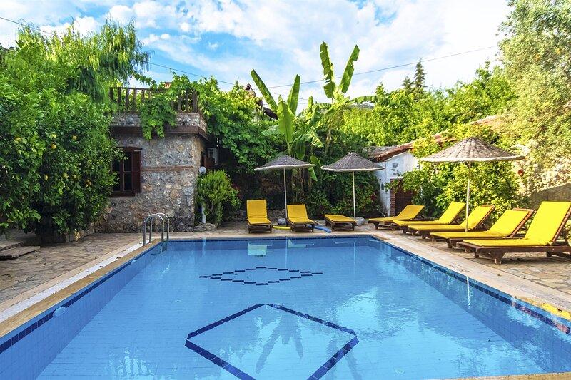 Privet Hidden Pool Holiday Villa Nur Stone Villa – semesterbostad i Kayakoy