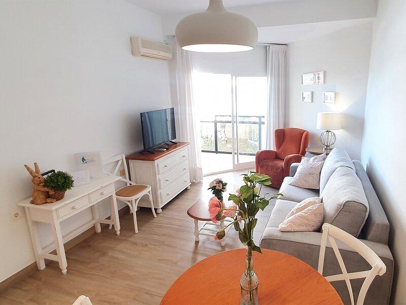 Cozy living room with its own aircon and wi-fi / Acogedor salón-comedor con aire acondicionado y wi-fi propio