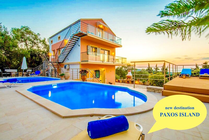 Villa Stephania with private pool, vacation rental in Lakka