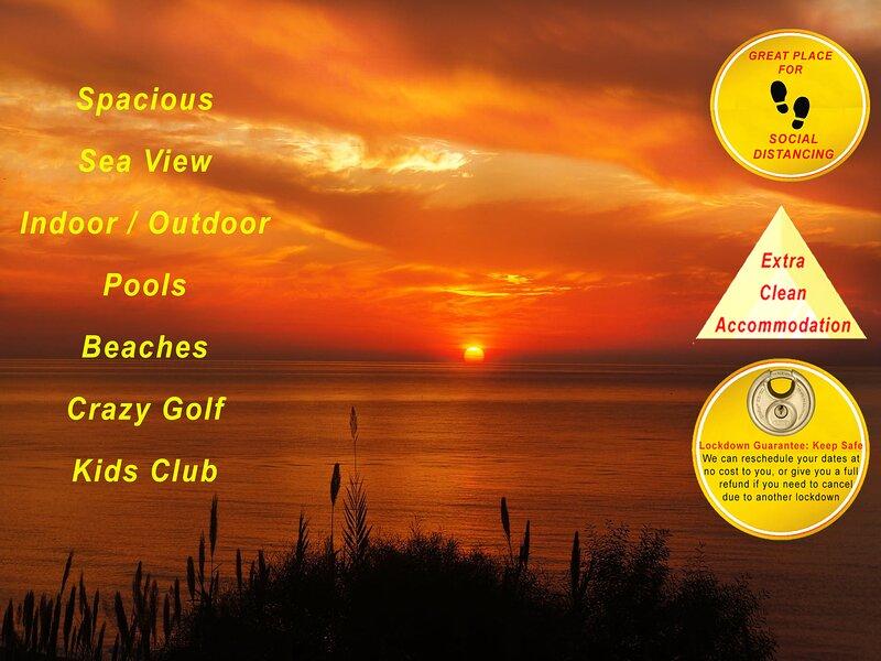 SPACIOUS - SEA VIEW - POOLS -  BEACHES - GEO-PARK, holiday rental in Brixham