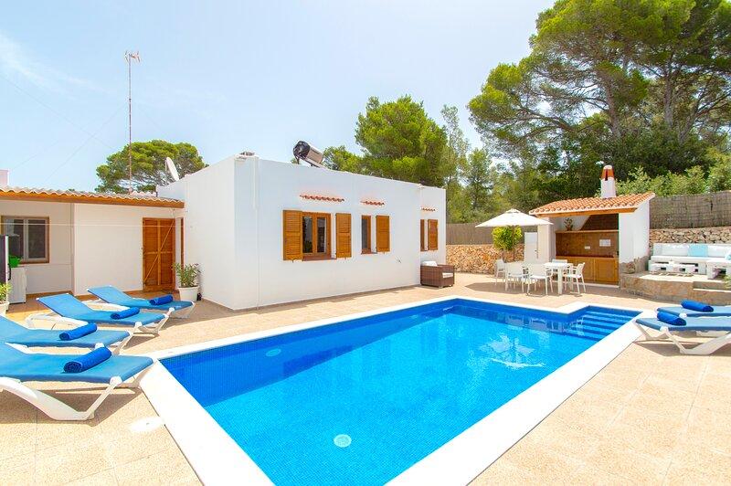 Villa Albe en Cala Galdana - piscina privada, wifi, aire acondicionado- – semesterbostad i Cala Galdana