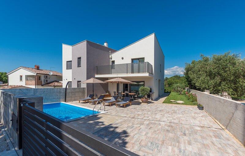 Modern Villa Leonardo with an outdoor pool, holiday rental in Zikovici