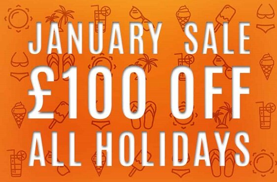 £100 off per week on all 2021 holidays when booked in January.