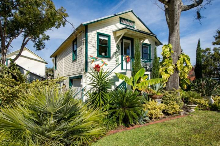 Enjoy beautifully maintained patio and gardens surrounding this oasis in the heart of St. Augustine!
