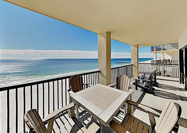 The Palms | Beachfront Corner Unit | 2 Pools, Sauna, Gym & Tennis, alquiler de vacaciones en Orange Beach