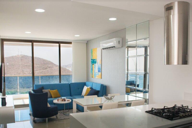Apartamento vista al mar Samaria Club de Playa cerca a zazue, holiday rental in Cienaga