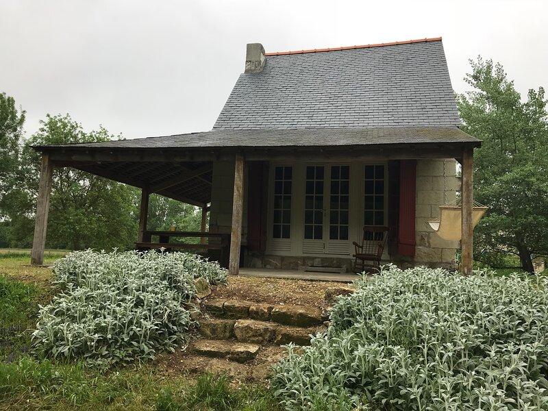 Privé gelegen cabane de vigne in de Loirevallei, holiday rental in Chinon