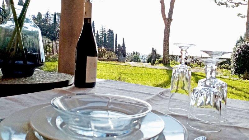 Porzione di Villa storica con panorama mozzafiato, holiday rental in Santa Lucia