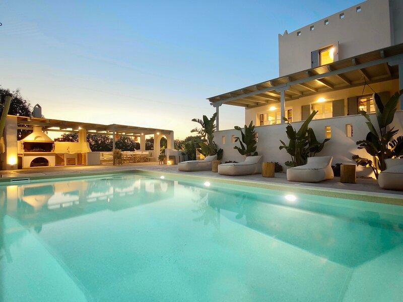 Seaside Naxos • Villa Ariadne • Private Pool • 4BDR / 3BATH • BBQ • Plaka Beach, aluguéis de temporada em Naxos