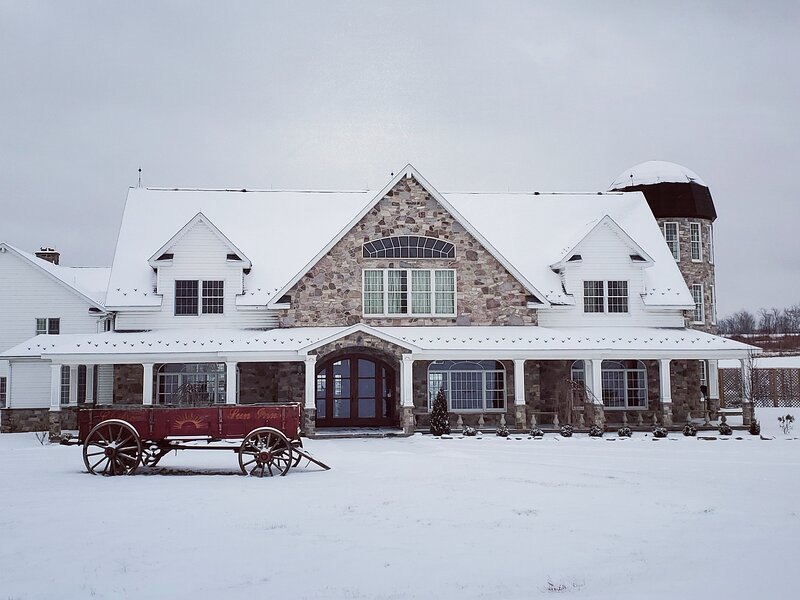 Majestic Mountain Valley Private Mansion - 200 Acre Farm, private pool – semesterbostad i Sandy Hook