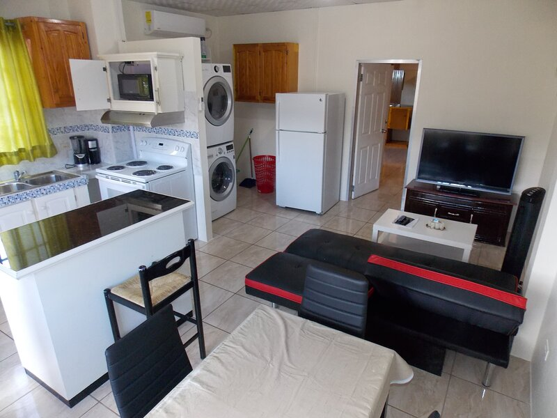 Stewart Vacation Apt-Trincity,Airport,WasherDryer,Office,WiFi,Netflix,AlarmGated, holiday rental in Arouca
