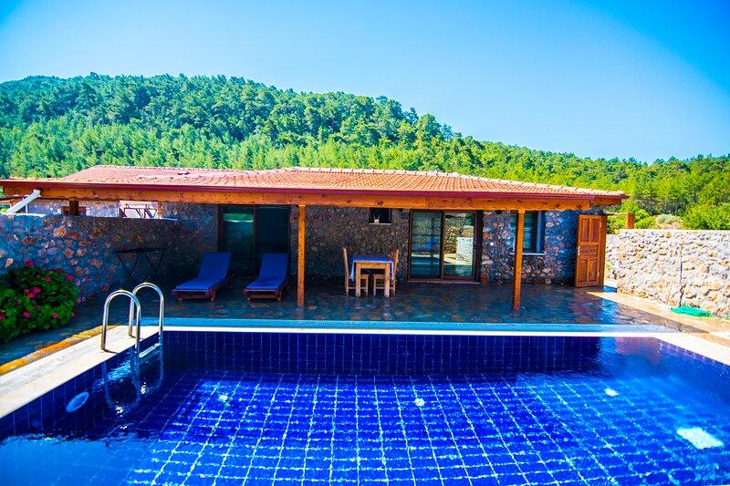 Privet Hidden Pool Holiday Villa Simay – semesterbostad i Kayakoy