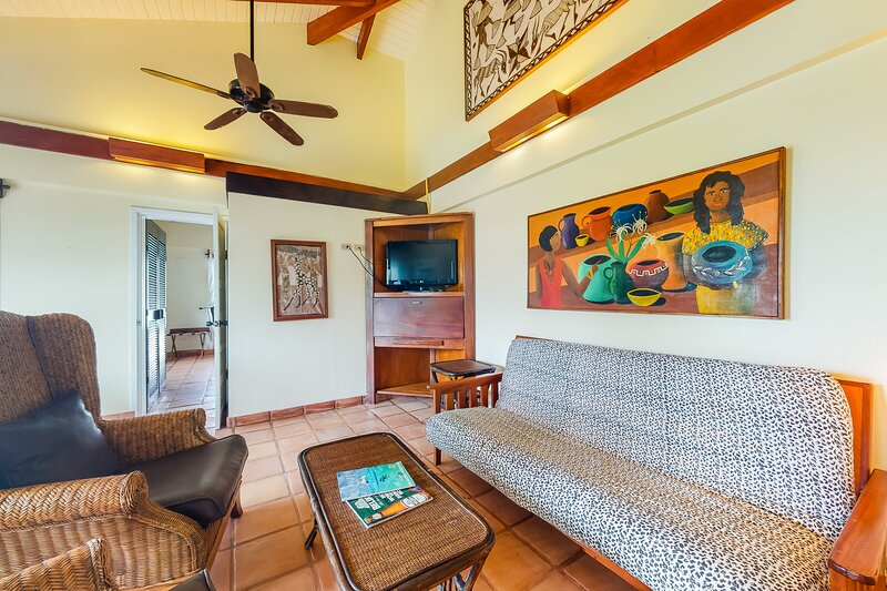 Comfortable oceanfront condo with shared pool, free WiFi, and pool & ocean views, vacation rental in Seine Bight Village