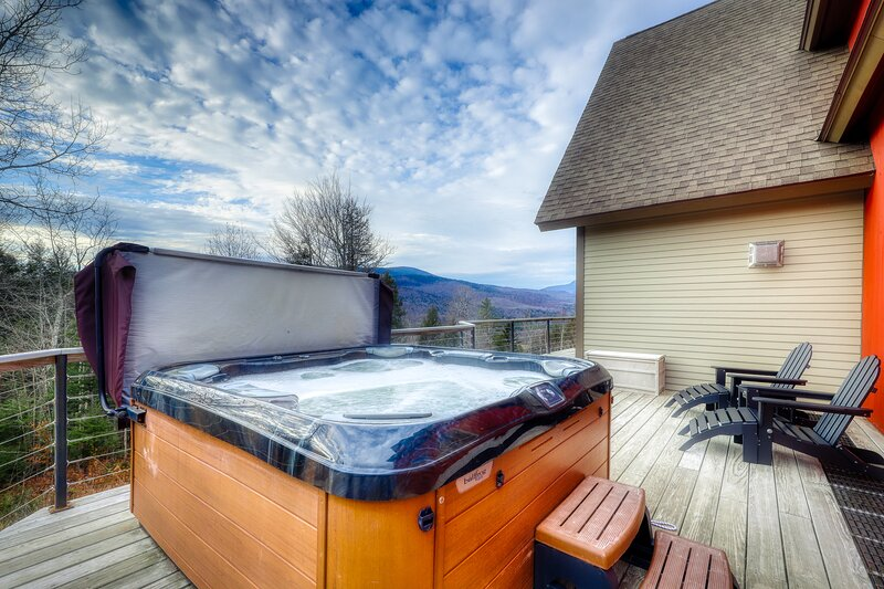 Secluded dog-friendly getaway w/ private hot tub, game room, & mountain views!, vacation rental in Andover