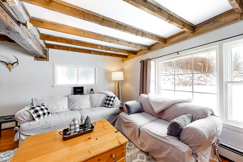 A Stylish Ski Retreat near Okemo Mountain Resort and heart of Ludlow Village, location de vacances à Proctorsville