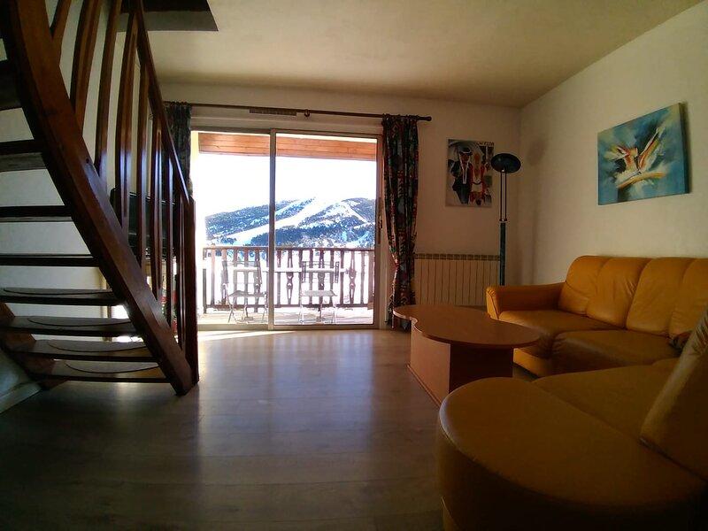 Paradis du VTT et balades - Face aux pistes: Superbe duplex 70m² 5 couchages, holiday rental in Brianconnet