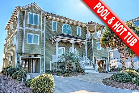 Sound of Freedom - 7BR Oceanfront House in North Topsail Beach with Pool - Sleep, Ferienwohnung in North Topsail Beach