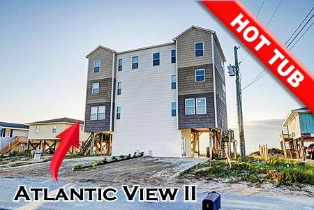 Atlantic View 2 - 5BR Oceanfront Duplex in North Topsail Beach with Hot Tub, vacation rental in Sneads Ferry