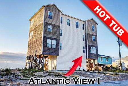 Atlantic View 1 - 5BR Oceanfront Duplex in North Topsail Beach with Hot Tub, vacation rental in North Topsail Beach