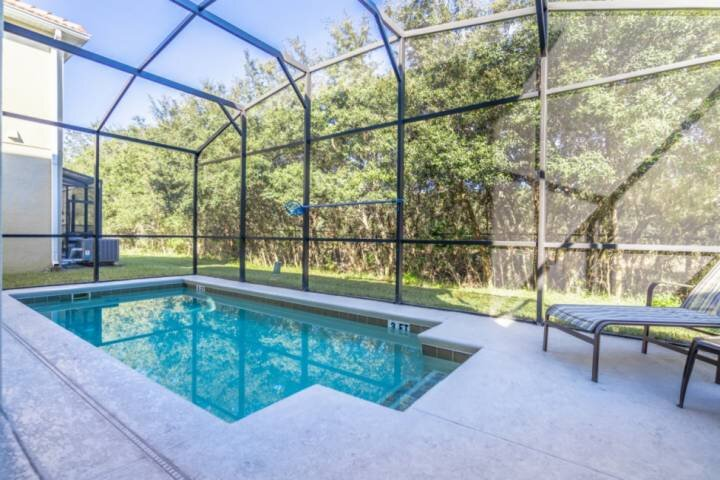 Private Pool Area w/Patio Seating for Four (4) & Two Sun Loungers