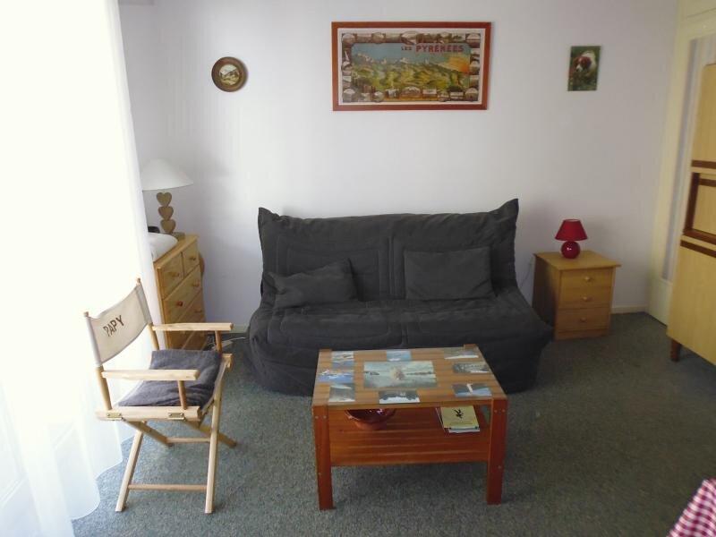 Studio cabine 4 personnes pied de pistes, location de vacances à Gourette