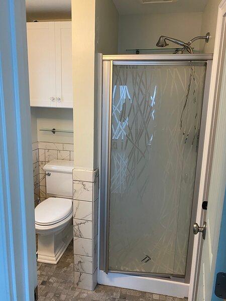 En-suite shower  Walk-in closet