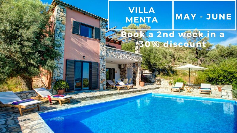 Villa Menta - Sivota Lefkadas - 3 bedrooms, private pool, sea view & BBQ, holiday rental in Evgiros
