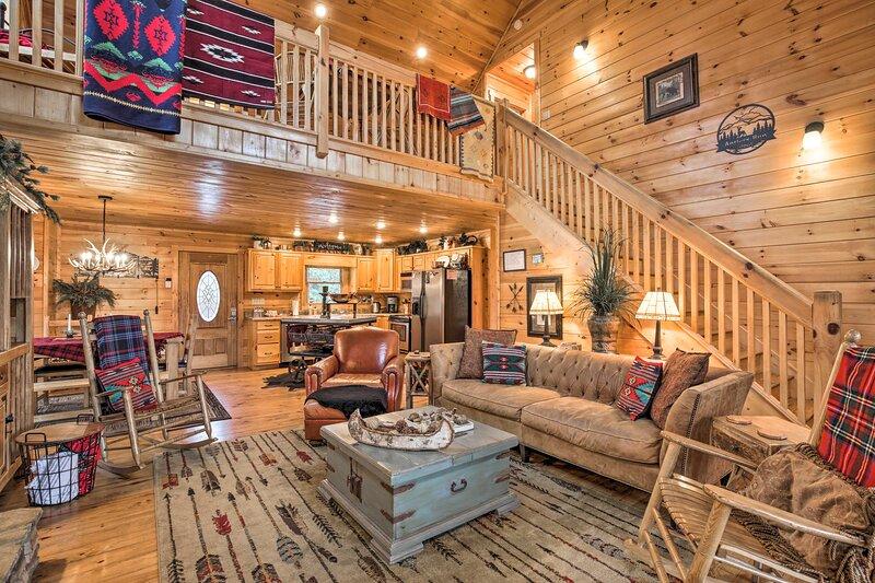 Blue Ridge Mtn View Getaway w/ Hot Tub & Fire Pit!, location de vacances à Epworth