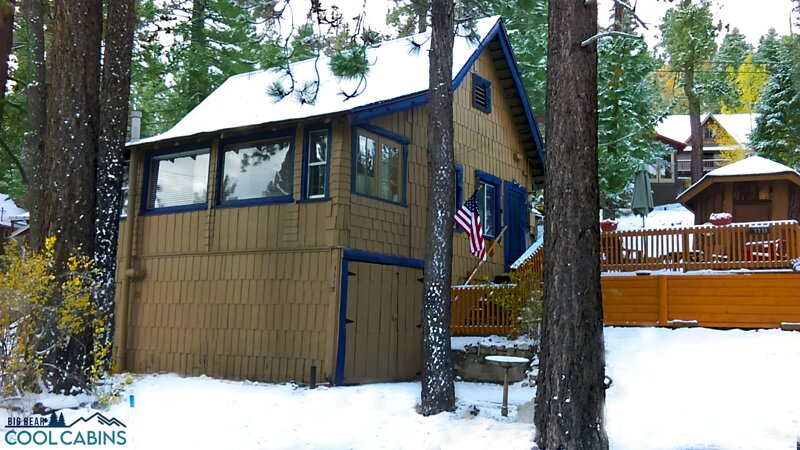 Snow covered Big Bear Cool Cabins, All Seasons Chateau