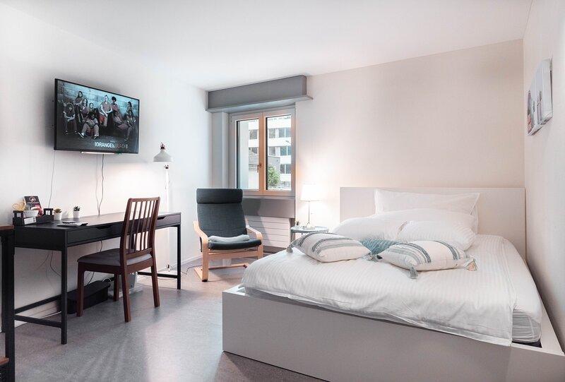 Stillvolles 1-Zimmer--Apartment 'stylish blue', aluguéis de temporada em São Galo (cantão)