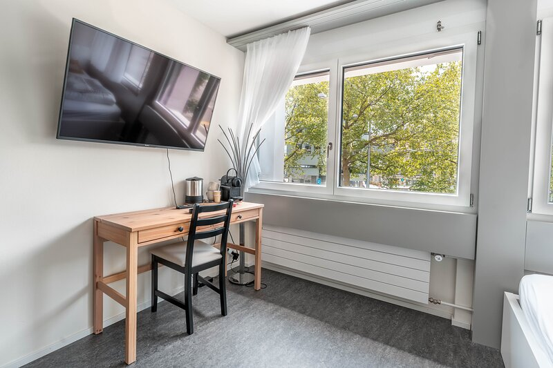 Heiteres 1-Zimmer-Apartment 'funky yellow', holiday rental in Lutisburg