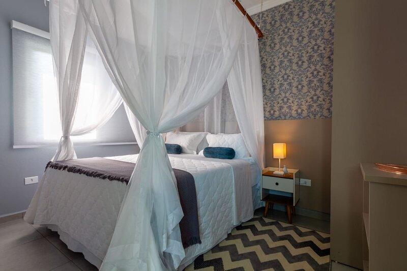 Dormitório do apartamento 'vista para o mar'