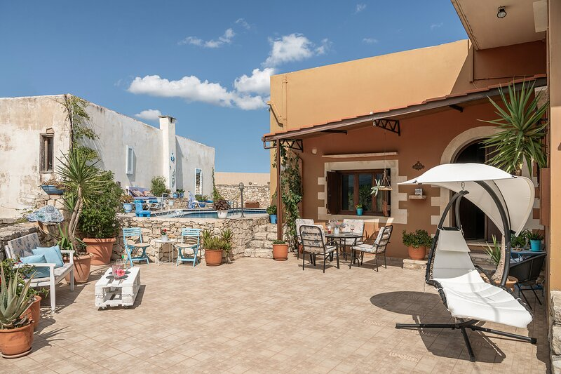 Unique Cretan Mansion At Wonderful Aspro Village!, holiday rental in Aspro