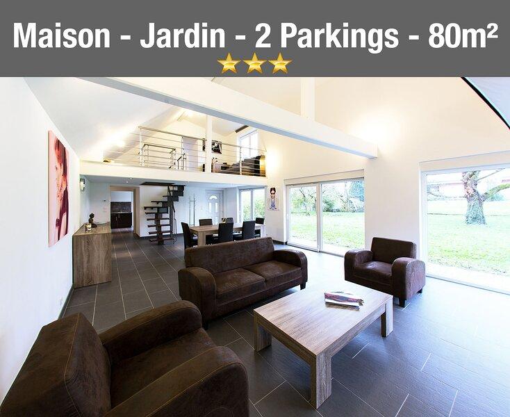Maison Moderne Classée 3* - 4/6pers - Grand Jardin, location de vacances à Lampertheim