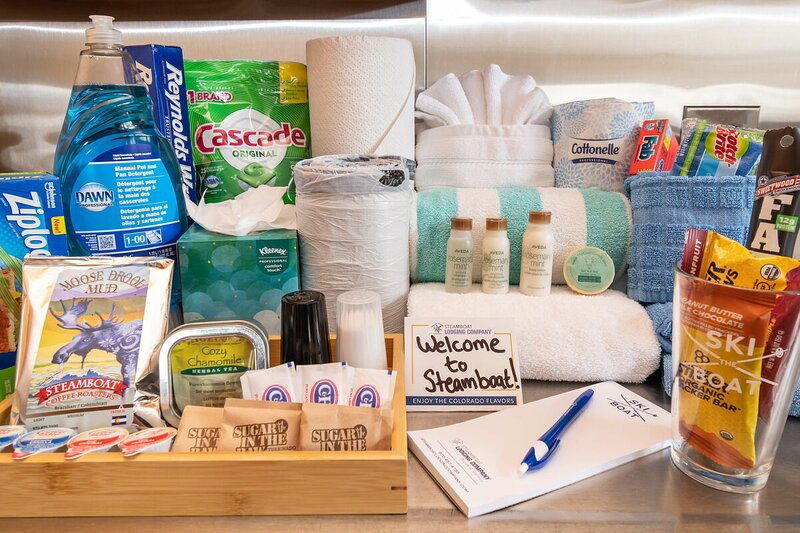 Complimentary products to get you started for your stay