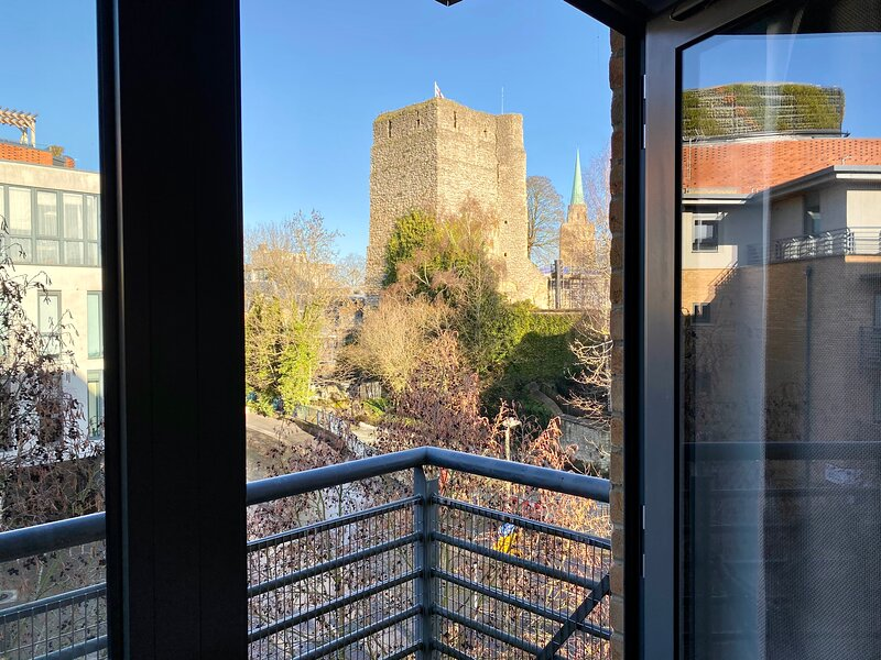 The Hawking - Luxury apartment overlooking Oxford Castle, vacation rental in Botley