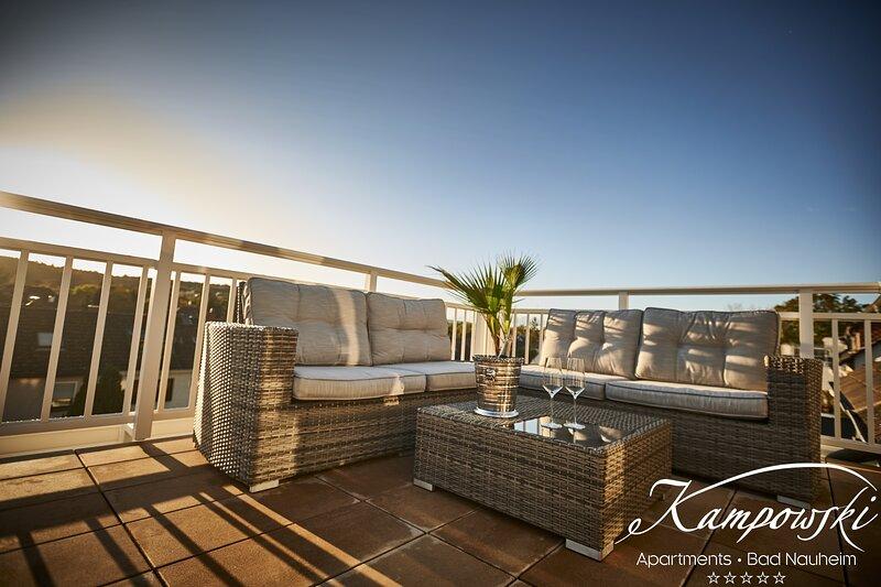 Kampowski Penthouse Suite  - Wohnen über den Dächern Bad Nauheims, aluguéis de temporada em Lahnau