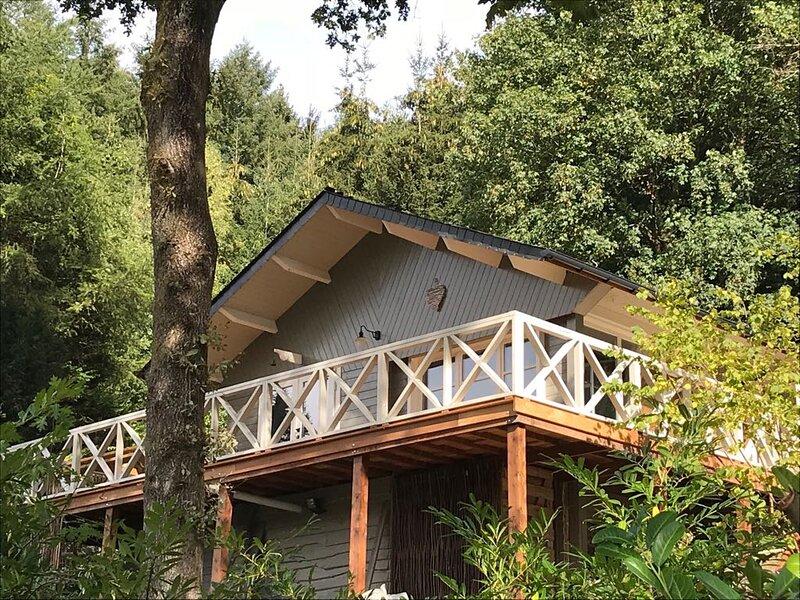 Luxe chalet met omheinde tuin, rustig gelegen aan bosrand, alquiler vacacional en Bazeilles